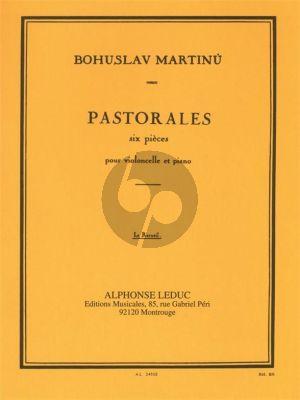 Martinu 6 Pastorales H 190 Violoncelle et Piano (6 Pieces)