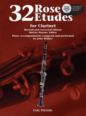 Rose 32 Studies for Clarinet (Book with Audio Online) (edited by Melvin Walker) (Piano Accomp. on Online Audio as composed and performed by John Walker)