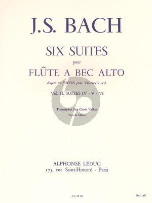 6 Suites Vol.2 Flute a bec Alto