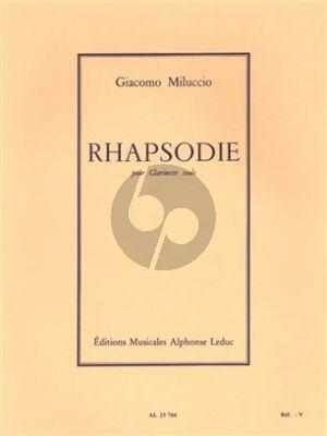 Giacomo Miluccio Rhapsodie for Clarinet Solo