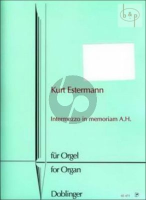 Intermezzo in Memoriam A.H.
