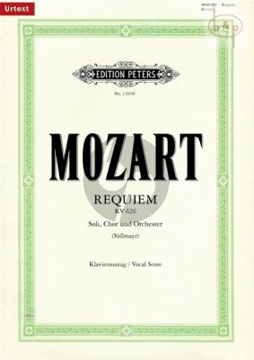 Requiem KV 626 (Soli-Choir-Orch.) (completed by Fr.X.Sussmayr) (Vocal Score)