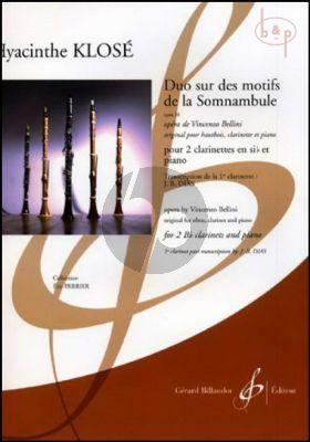 Duo sur des motifs de la Somnambule Op.20 (Bellini) (2 Clar.[Bb]-Piano) (arr. J.B.Dias)