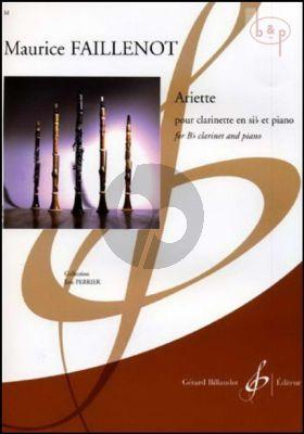 Ariette Clarinet Bb - Piano