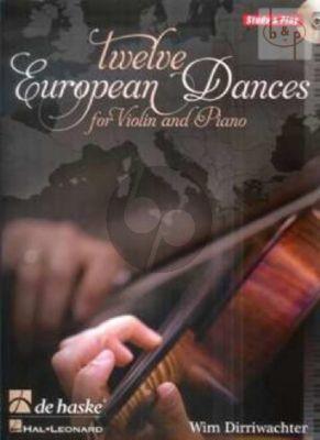 12 European Dances (Violin-Piano) (Bk-Cd)