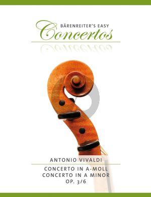 Vivaldi Concerto a-minor Op. 3 No .6 RV 356 Violin and Piano (edited by Kurt Sassmannshaus)