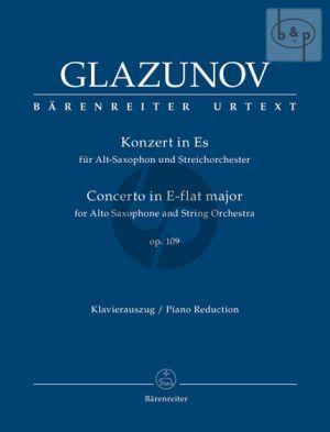 Concerto E-flat major Op.109 Alto Sax.-String Orch. (piano red.)