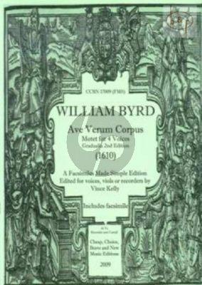 Ave Verum Corpus (Motet) (1610) (4 Voices[SATB]/ (Viols or Recorders)