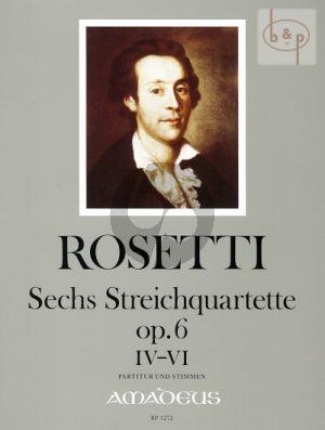 6 Quartette Op.6 Vol.2 (No.4 - 6 ) (RWV D9 -D14)