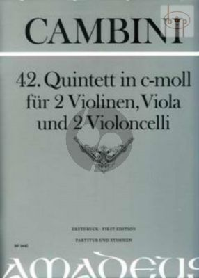 Quintet No.42 c-minor (Score/Parts)