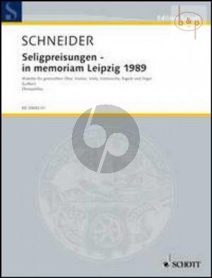 Seligpreisungen in Memoriam Leipzig 1989 (Motette) (Mixed Choir-Vi.-Va.-Vc.-Bsn.-Organ)