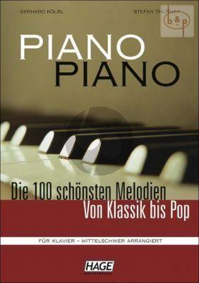 Piano Piano 100 Schonsten Melodien von Klassik bis Pop Mittelschwer (Bk- 3 CD's)