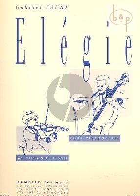Elegie Op. 24 Violoncello-Piano