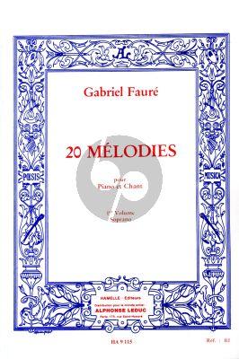 Faure 20 Melodies vol.1 Voix Soprano (Hamelle)