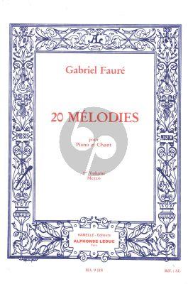 Faure 20 Melodies Vol.1 Voix Moyenne (Hamelle)