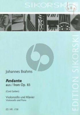 Konzert Klavier und Orchester Nr. 2: Andante aus op.83 Violoncello-Klavier