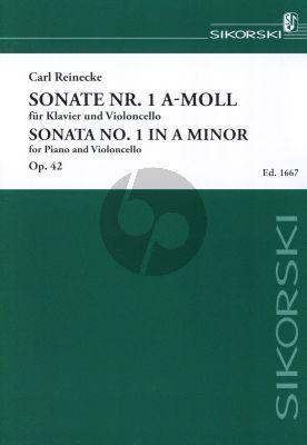 Reinecke Sonate No.1 Op.42 a-moll Violoncello und Klavier (Edwin Koch)