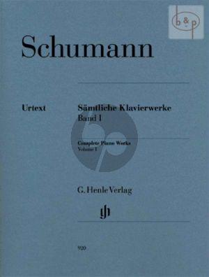Samtliche Klavierwerke Vol.1