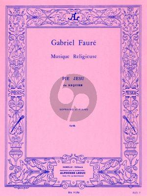 Faure Pie Jesu Soprano-Piano (from Requiem)
