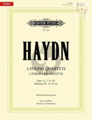 4 Quartets Op.42 -Op.77 and Op.103 (Hob.III:43 , 81 - 83) (Score/Parts)