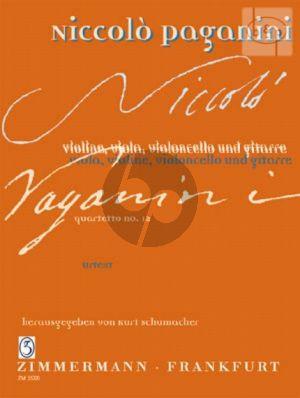 Quartetto No.12 a-minor (Vi.-Va.-Vc.-Guitar) (Score/Parts)