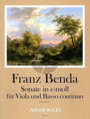 Benda Sonate c-moll Viola-Bc (Jappe/Michel) (Erstdruck)