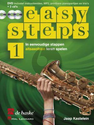 Easy Steps Vol.1 Altsaxofoon (Bk-DVD- 2 Cd's) (In eenvoudige stappen altsaxofoon leren spelen)
