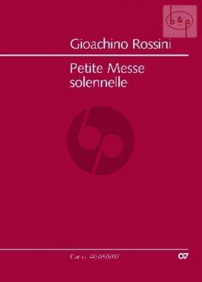 Petite Messe Solennelle SATB soli-SATB- 2 Pianos Harmonium
