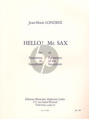 Hello! Mr.Sax (Parametres du Saxophone)