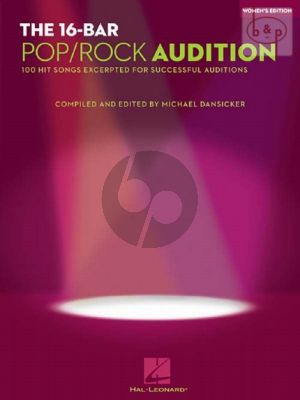 16 Bar Pop & Rock Audition (100 Hit Songs excerpted for successful Auditions)