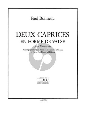 Bonneau 2 Caprices en forme de Valse Basson et Piano