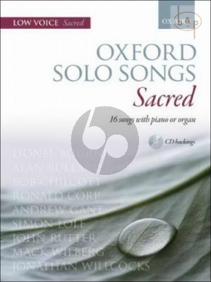 Oxford Solo Songs Sacred Low Voice and Piano or Organ