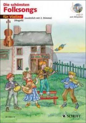 Die Schonsten Folksongs (1 - 2 Violins) (Bk-Cd)