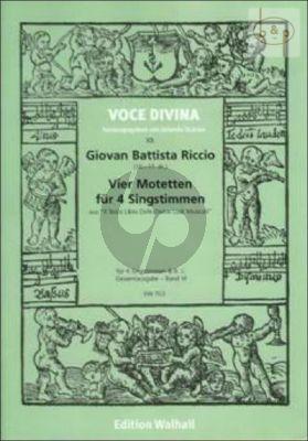 4 Motetten (aus Il Terzo Libro della Divine Lodi Musicali) (4 Singst.-Bc.)