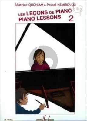 Lecons de Piano - Piano Lessons Vol.2