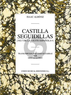 Albeniz Castilla Seguidillas 2 guitars ( Miguel Llobet)