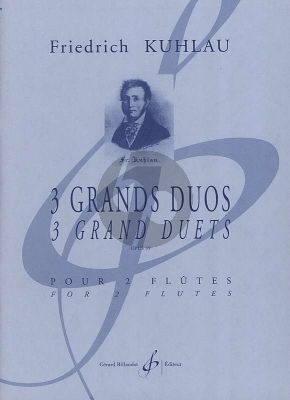 Kuhlau 3 Grands Duos Op. 39 (Playing Score) (advanced level grade 7) (edited by Philippe Bernold)