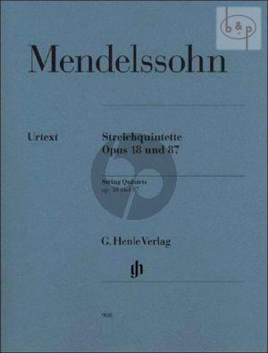 Quintets Op.18 and Op.87 2 Vi.- 2 Va.-Vc. (Parts)