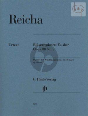 Quintet E-flat major Op.88 No.2 (Fl.-Ob.- Clar.[Bb]-Horn[Eb/F]-Bsn) (Parts)