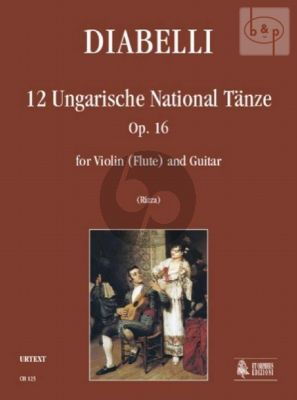 12 Ungarische National Tanze Op.16 (Violin[Flute]-Guitar)