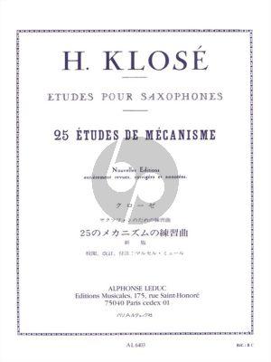 Klose 25 Etudes de Mecanisme Saxophone (Marcel Mule)