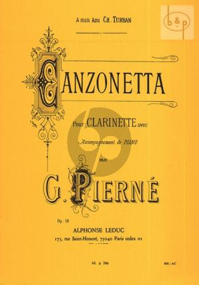 Canzonetta Op.19 Clarinette et Piano