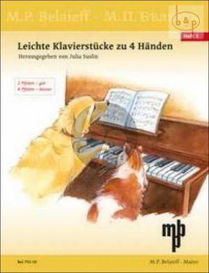 Leichte Klavierstucke zu 4 Handen Vol.1