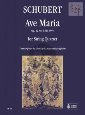 Ave Maria Op.52 No.6 D.839