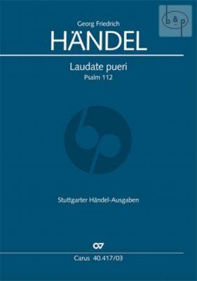 Laudate Pueri (Psalm 112) (HWV 237) (Sopr.-SSATB- 2 Ob.- 2 Vi.- 2 Va.-Bc)