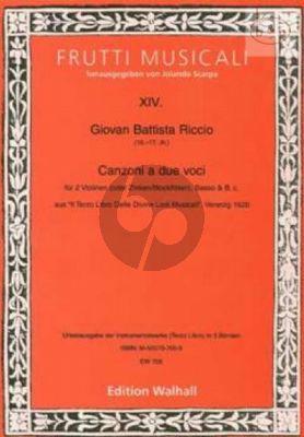 Canzoni a 2 (2 Vi.[Zinken/Rec.]-Trb.-Basso-Bc) (Score/Parts)