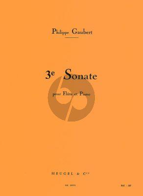 Gaubert Sonate No.3 Flute and Piano