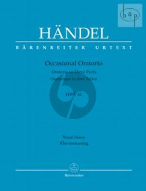 Occasional Oratorio HWV 62 (Oratorio in 3 Parts) (Vocal Score)