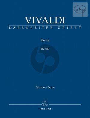 Kyrie RV 587 (SA soli- 2 Mixed Choirs-Orch.) (Full Score)