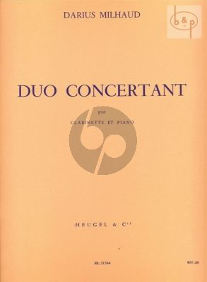 Duo Concertante Op.351 for Clarinet and Piano